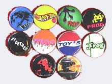 10種類の安全ピン缶バッチ